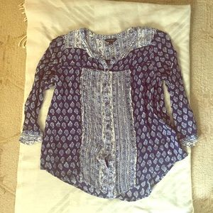 LUCKY BRAND Button Down Blouse